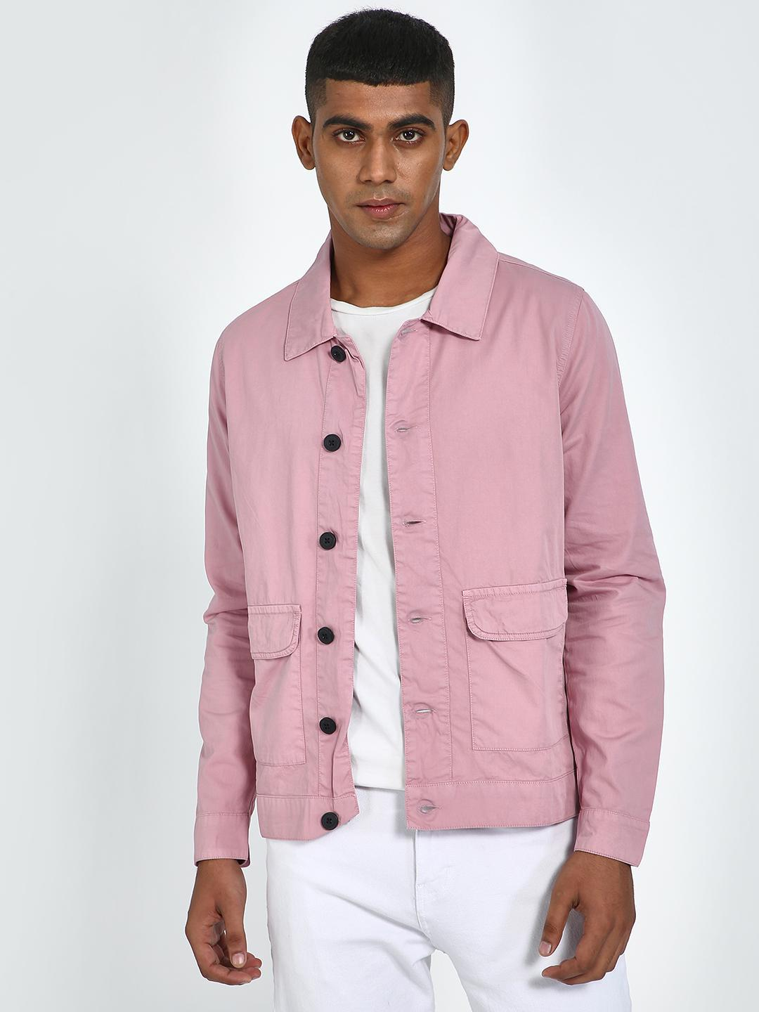 Blue Saint Pink Twin Pockets Jacket 1