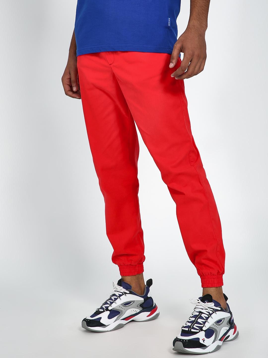 Blue Saint Red Cuffed Hem Jogger with Drawcord 1