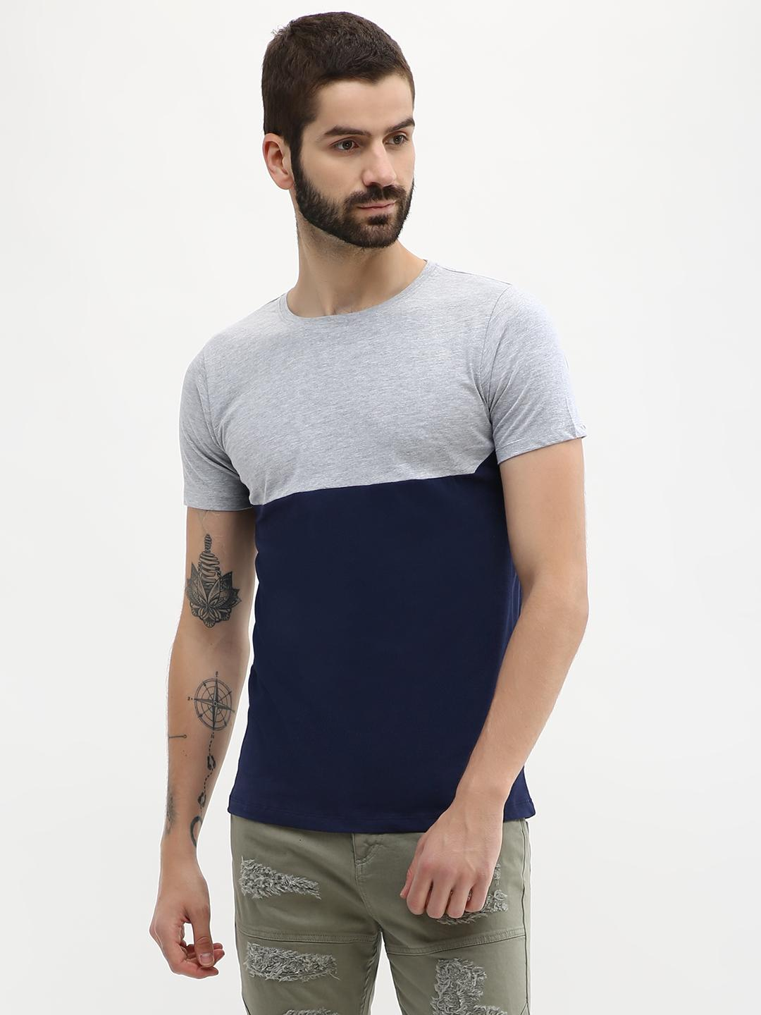 Blue Saint Multi Colour Block T-Shirt 1