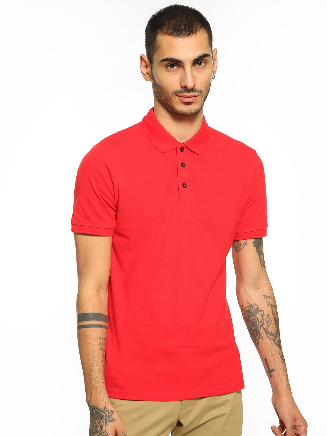 Blue Saint Red Basic Short Sleeve Polo Shirt 1