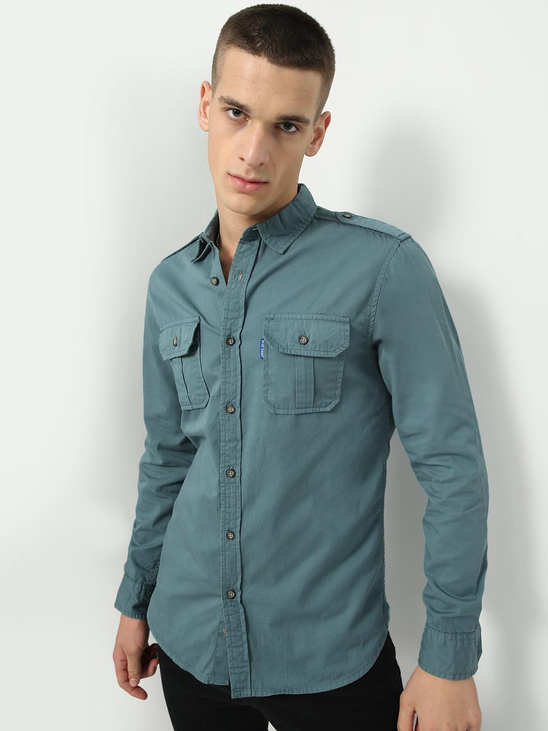 Blue Saint Green Twin Patch Pocket Shirt 1
