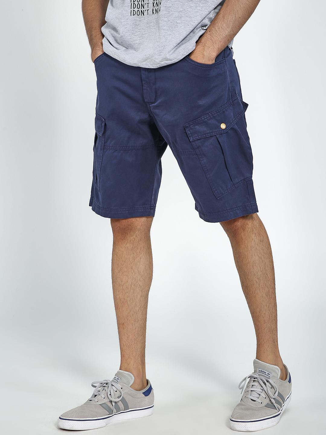 Blue Saint Navy Cargo Fit Shorts 1