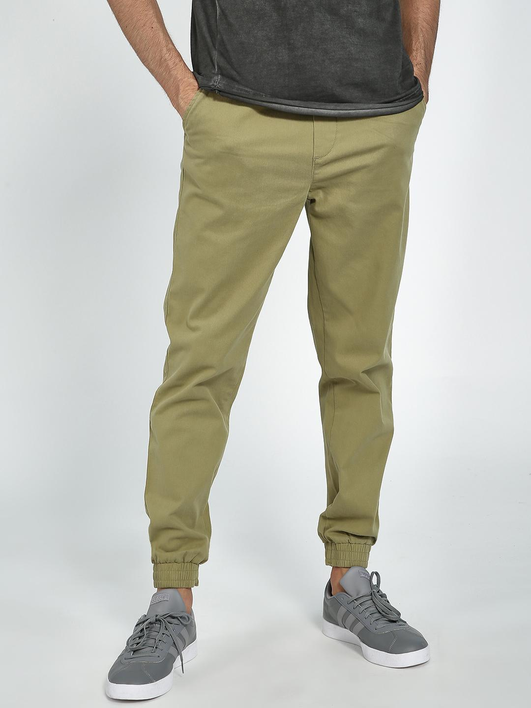 Blue Saint Beige Basic Jog Pants 1