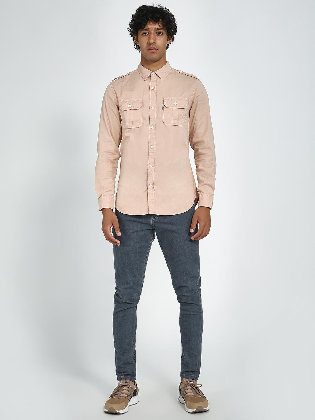 Blue Saint mistry rose Twin Pocket Slim Fit Casual Shirt 1