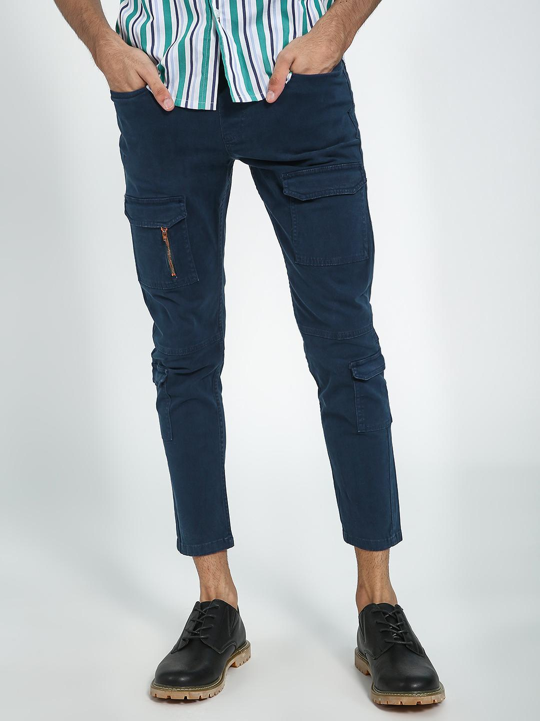 Blue Saint Navy Multi Utility Pocket Trousers 1