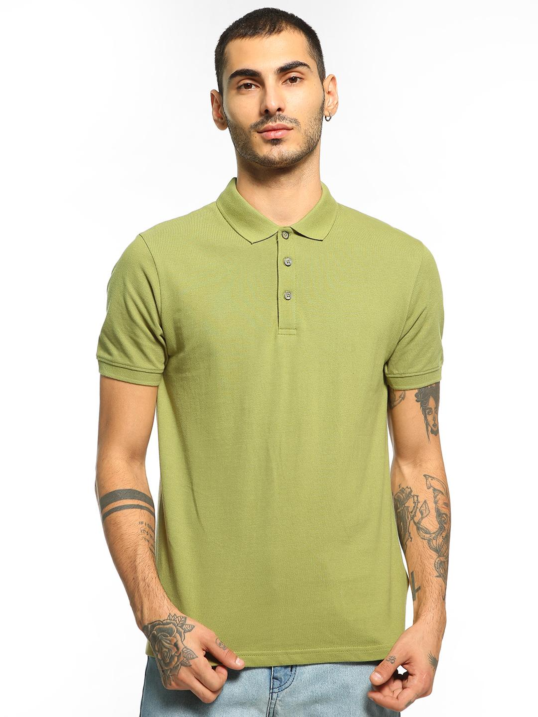 Blue Saint Olive Basic Short Sleeve Polo Shirt 1