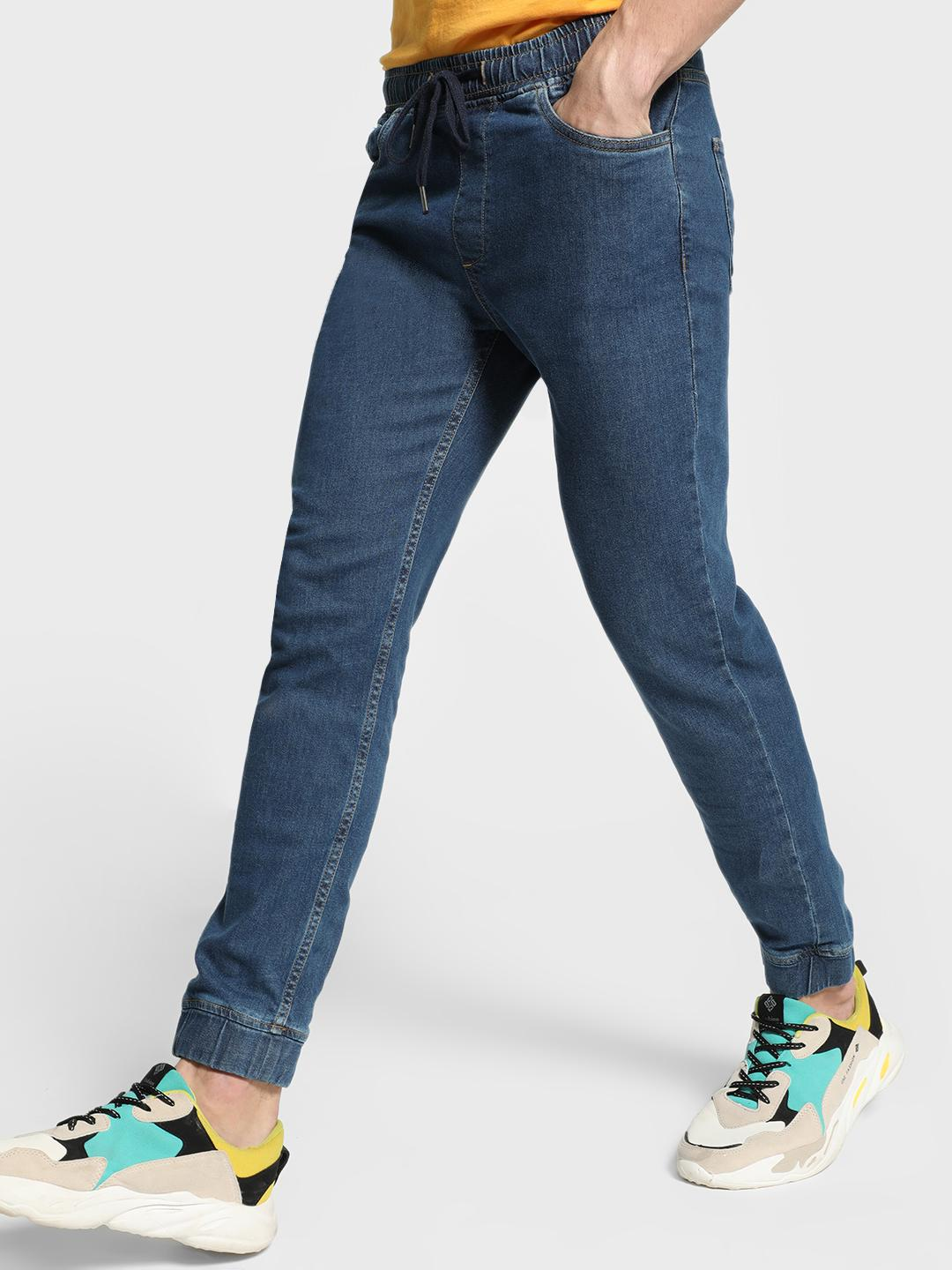 Blue Saint Blue Slim Fit Denim Joggers 1