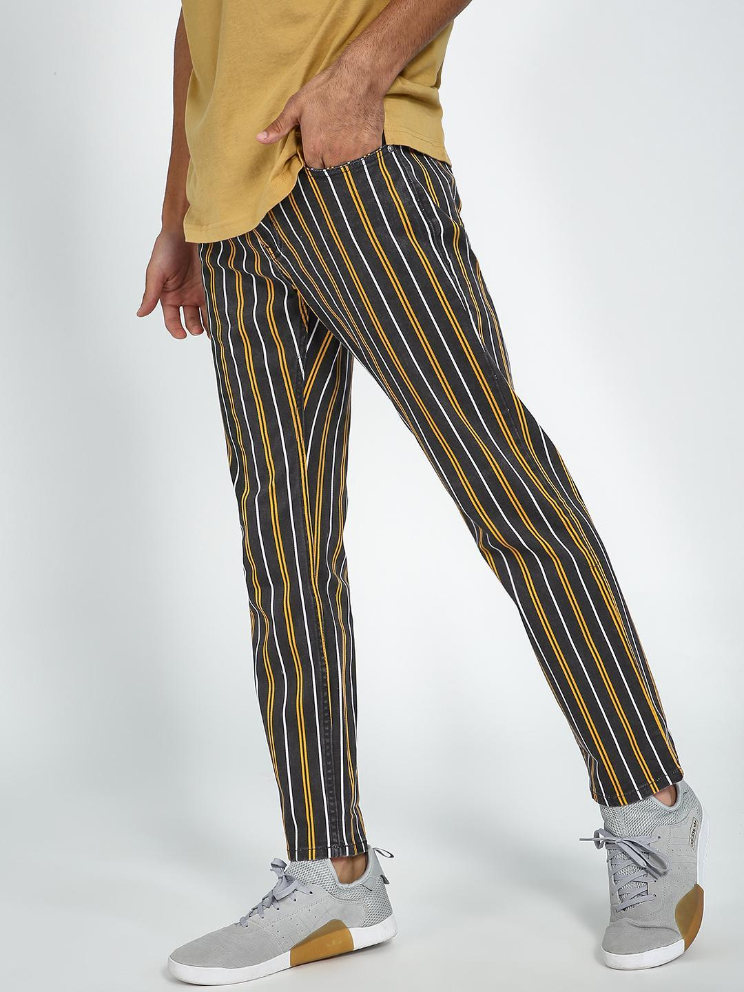 Blue Saint Multi Vertical Stripe Cropped Trousers 1
