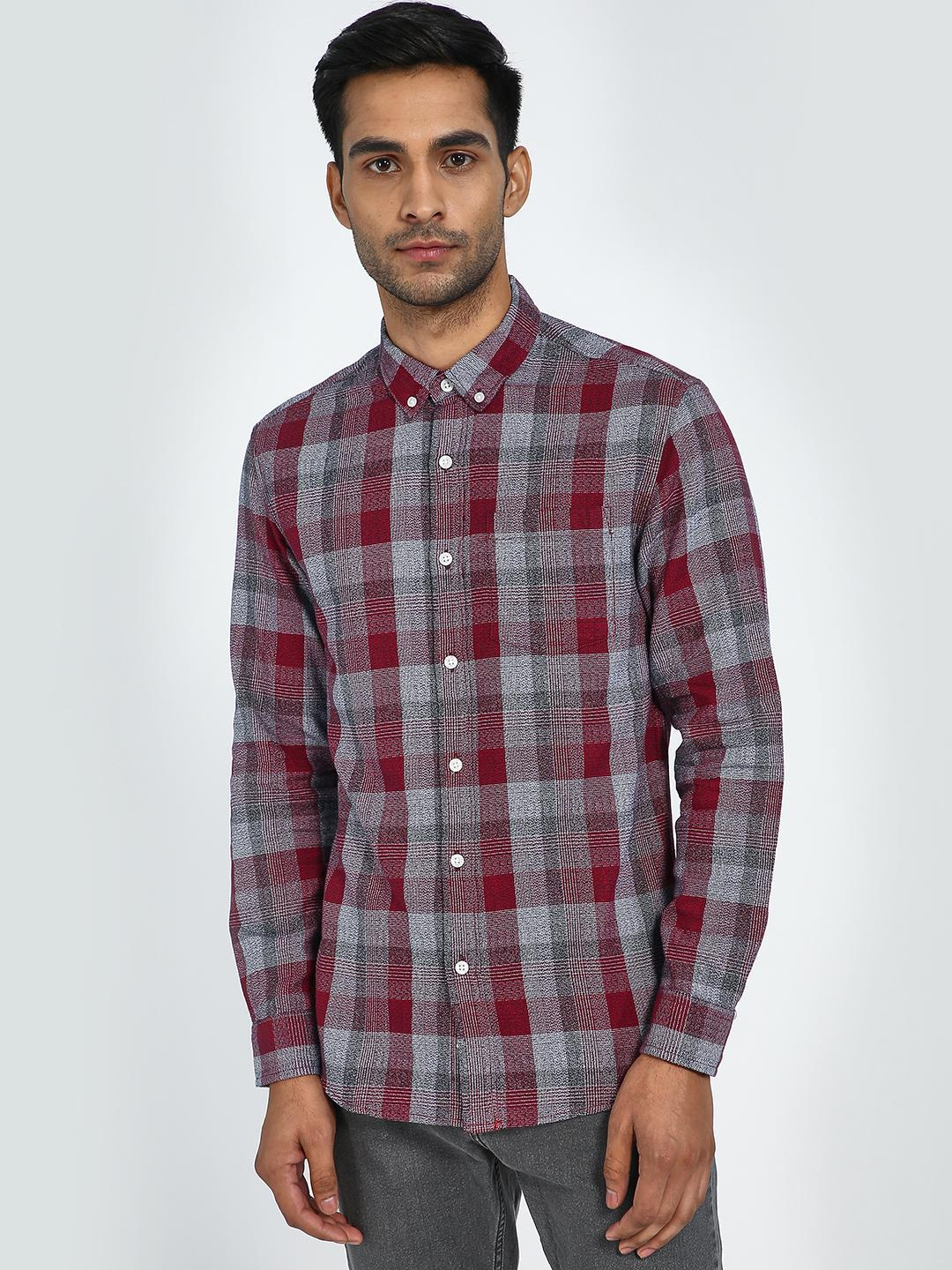 Blue Saint Red/Black Long Sleeve Plaid Check Shirt 1