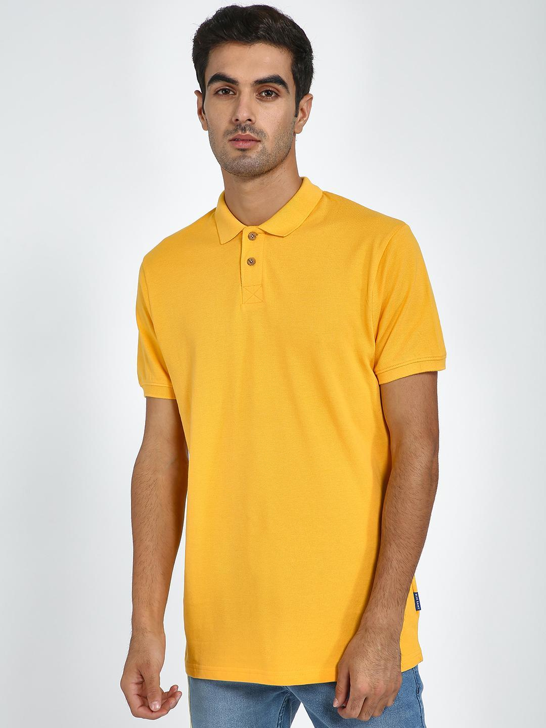 Blue Saint Yellow Short Sleeve Polo Shirt 1