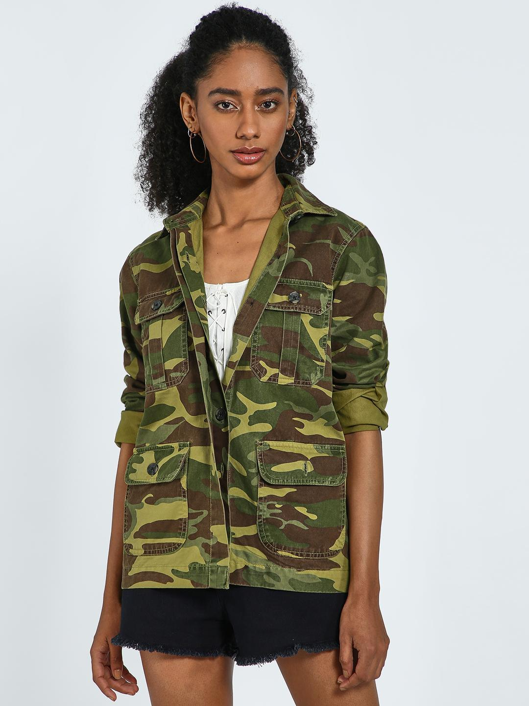 Blue Saint Multi Camo Print Utility Jacket 1