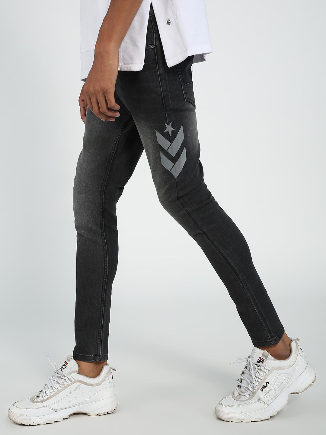 REALM Black Light Wash Skinny Fit Jeans 1