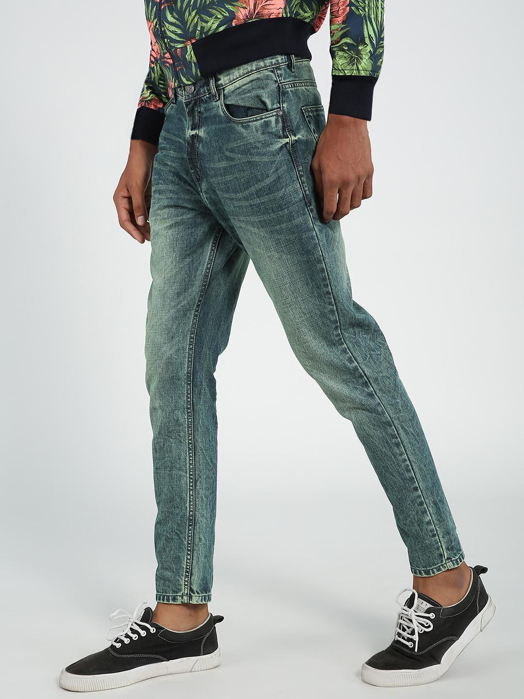 REALM Blue Acid Wash Slim Jeans 1