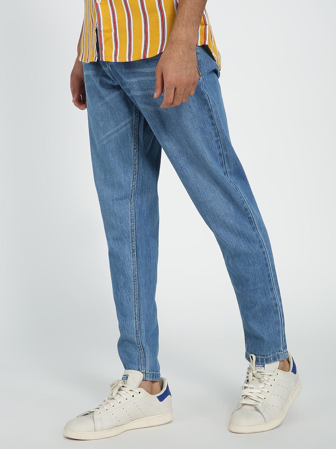REALM Blue Mid-Wash Regular Fit Jeans 1