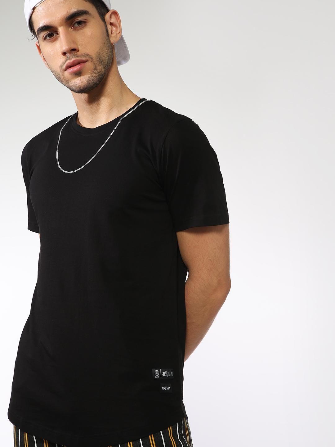 Kultprit Black Basic Crew Neck T-Shirt 1