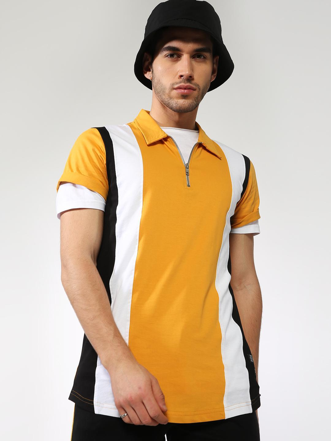 Kultprit Multi Colour Block Polo Shirt 1