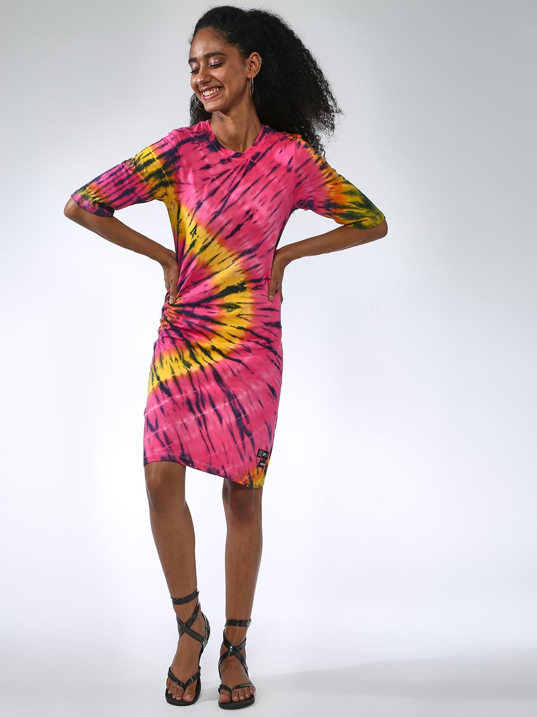 Kultprit Multi Tie & Dye Print Dress 1