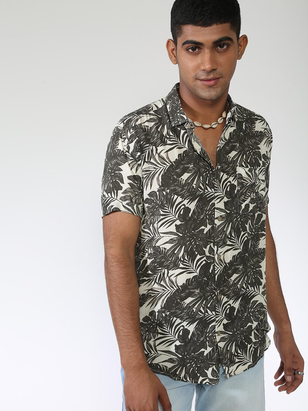 AMON Multi All Over Tropical Print Shirt 1