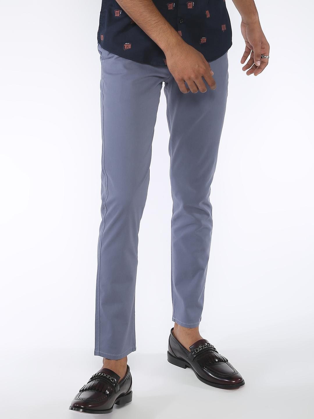 AMON Blue Basic Cropped Skinny Chinos 1