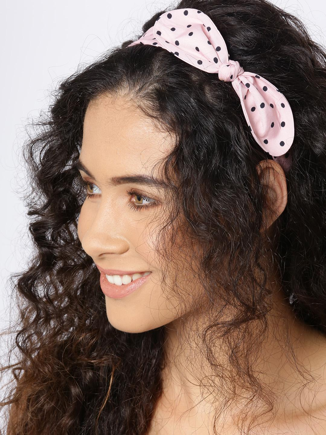 Blueberry Multi Polka Dot Bow Headband 1