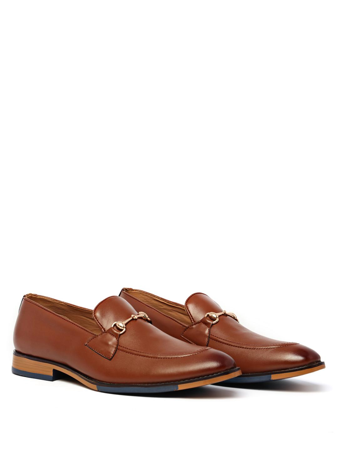 KLEAT Tan Horsebit Detail Loafers 1