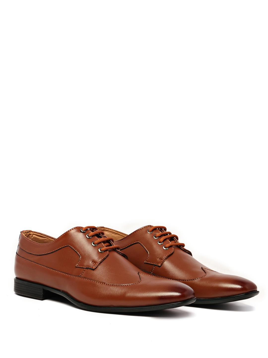 KLEAT Tan Lace Up Derby Formal Shoes 1