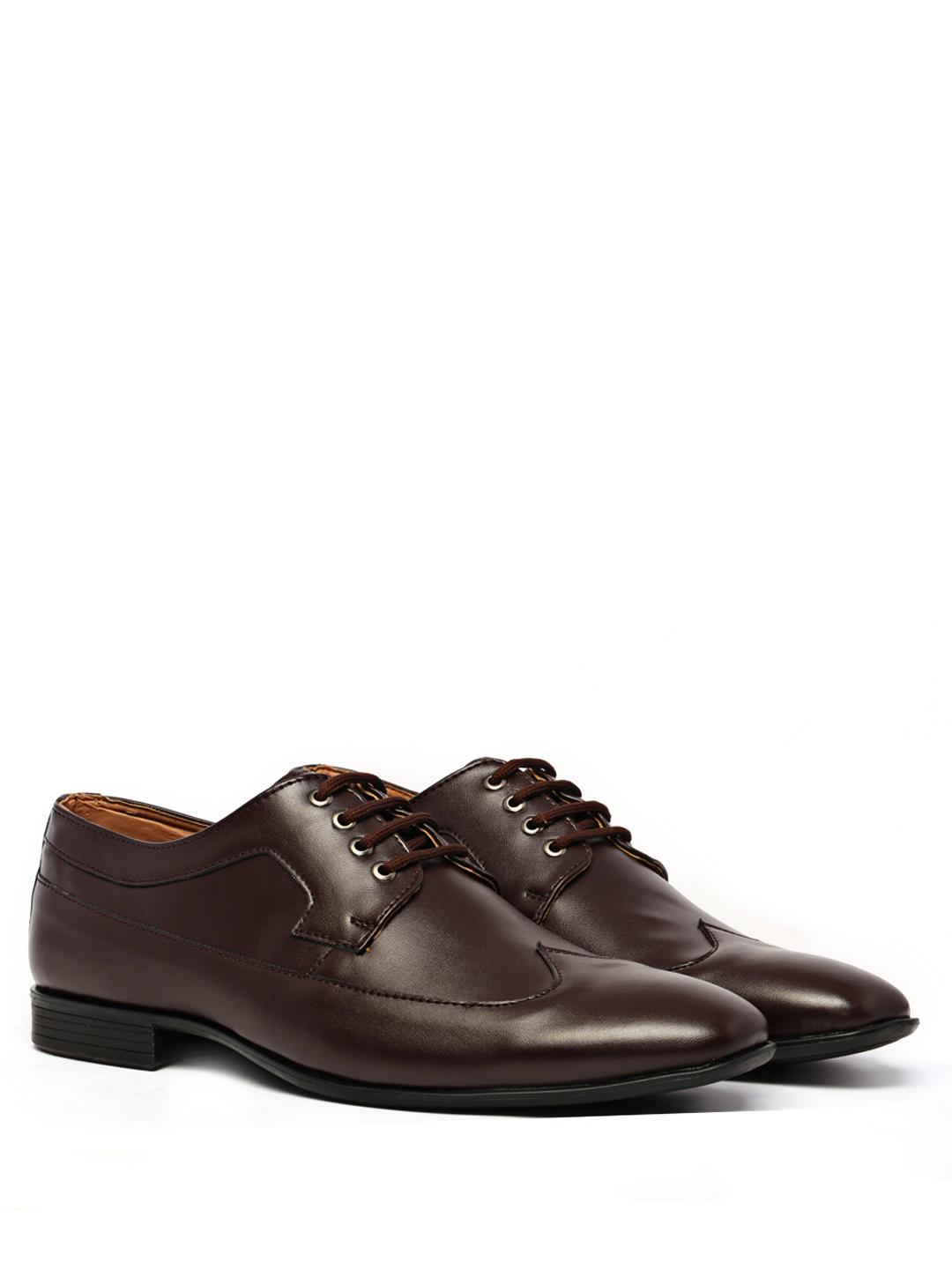 KLEAT Brown Lace Up Derby Formal Shoes 1