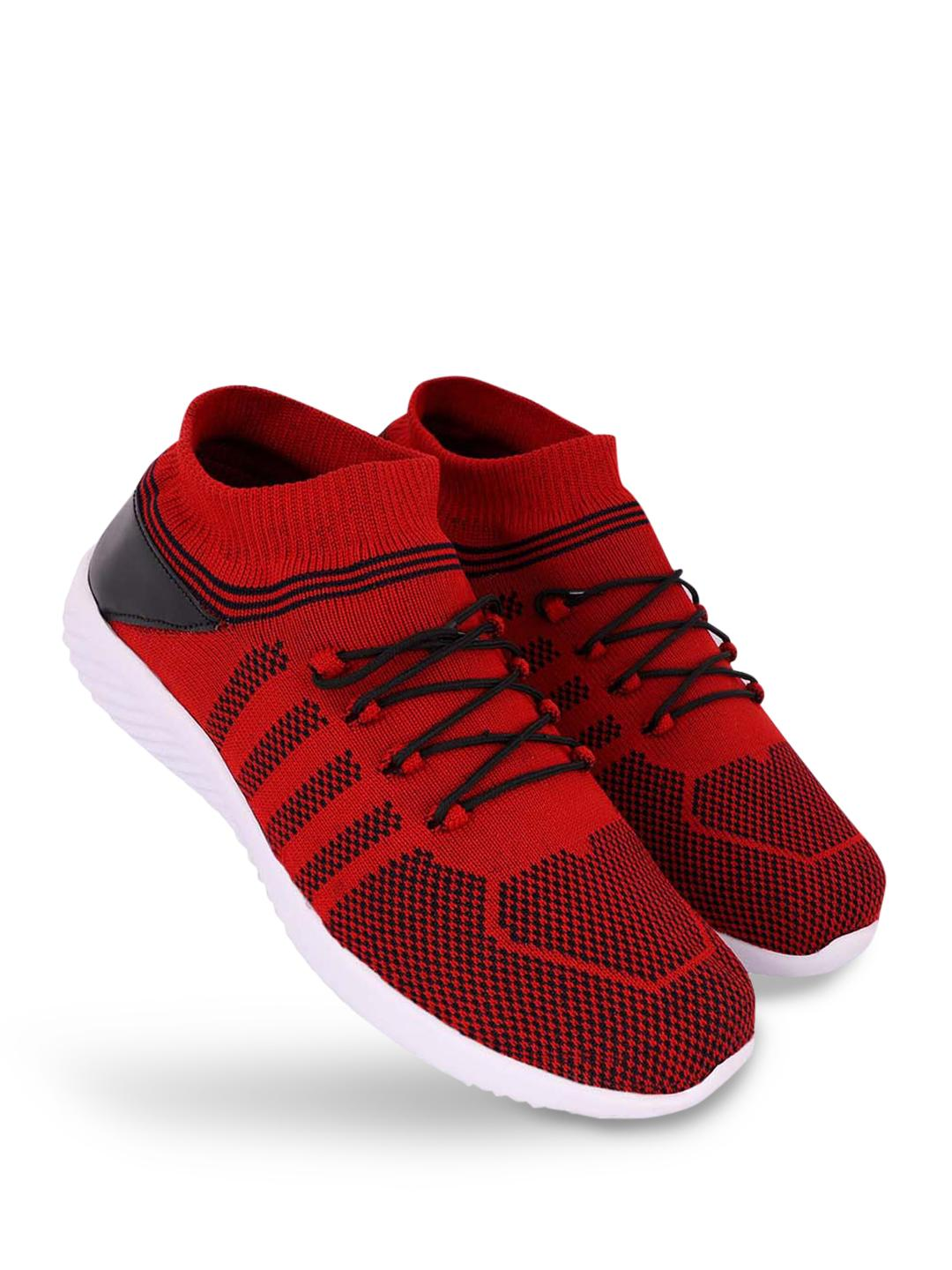 KLEAT Red Flyknit Upper Lace-Up Shoes 1