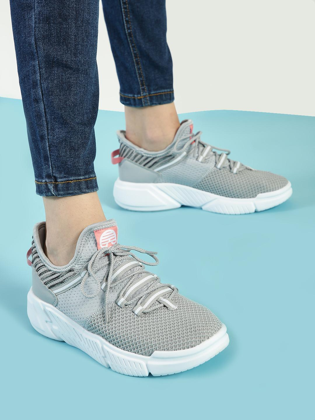 361 Degree Grey Knitted Sockliner Trainers 1