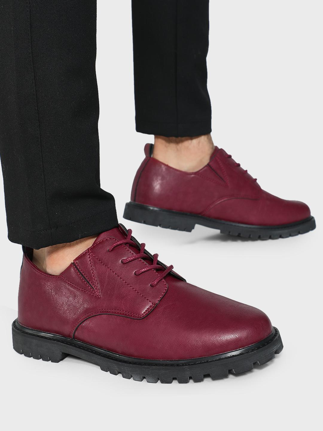 KOOVS Red Cleated Sole Boots 1