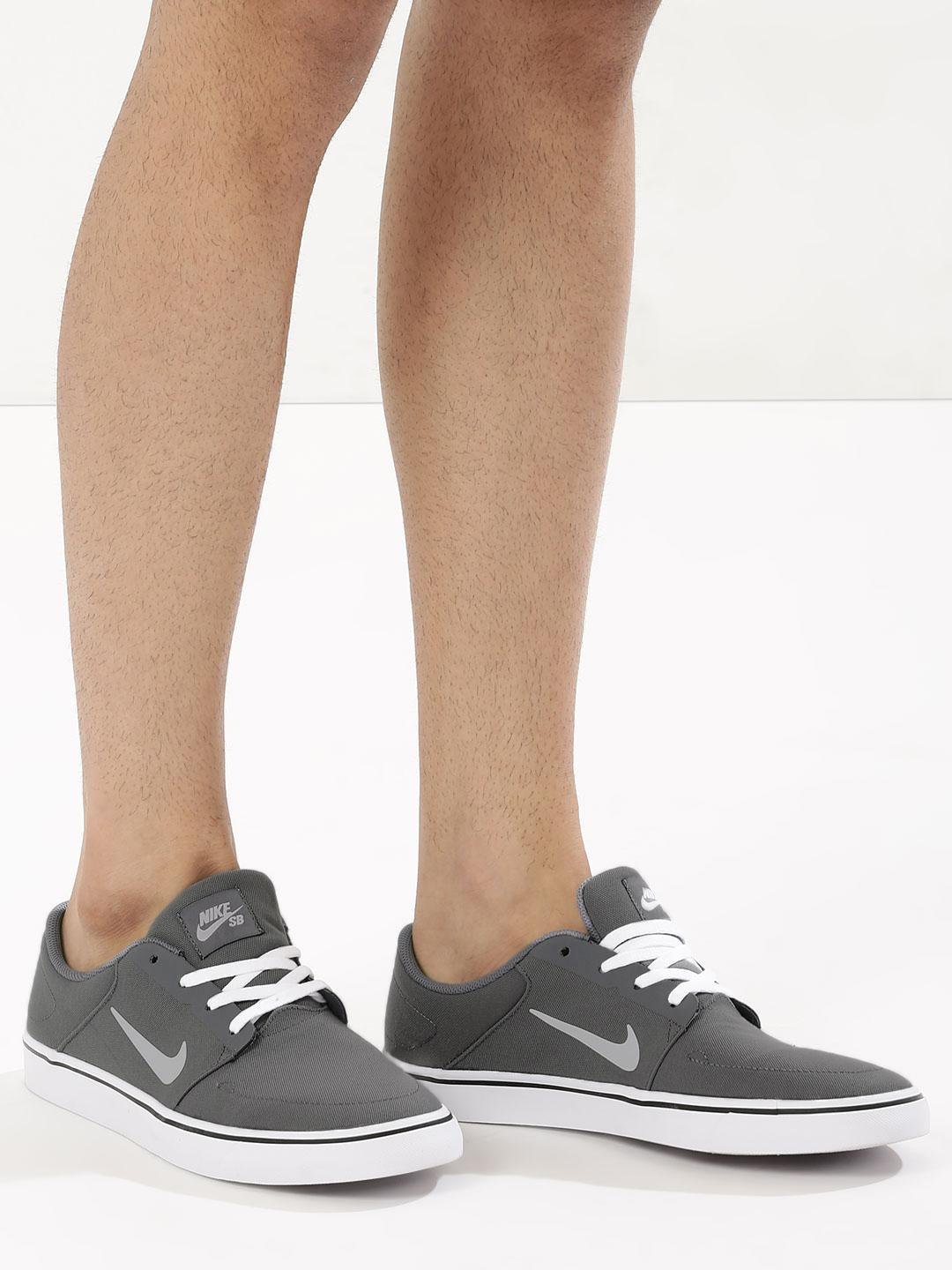 Nike GREY/WHIT/BLACK Sb Portmore Canvas Skateboarding Shoes 1
