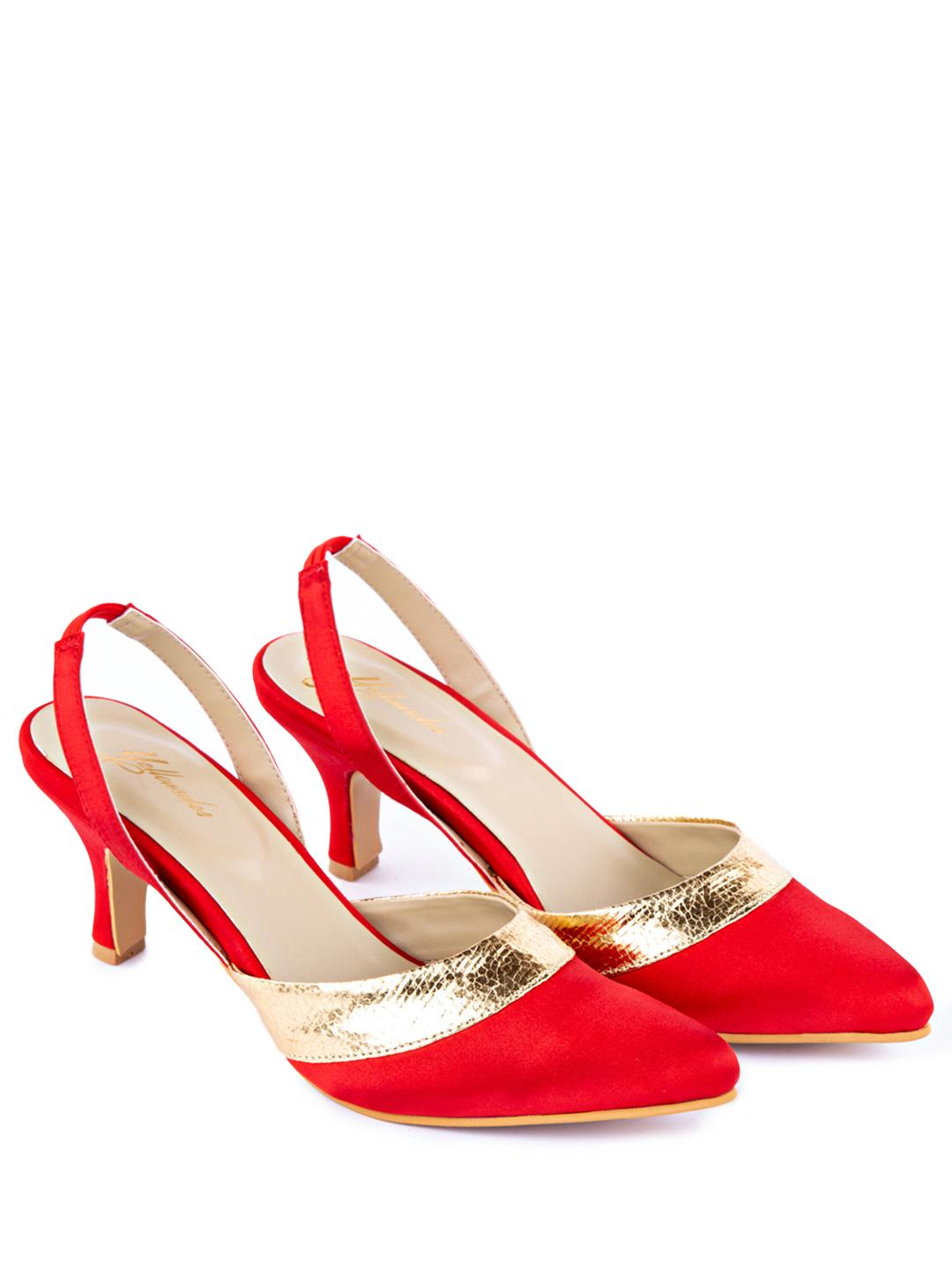 Yellow Soles Red Slingback Heeled Pumps 1