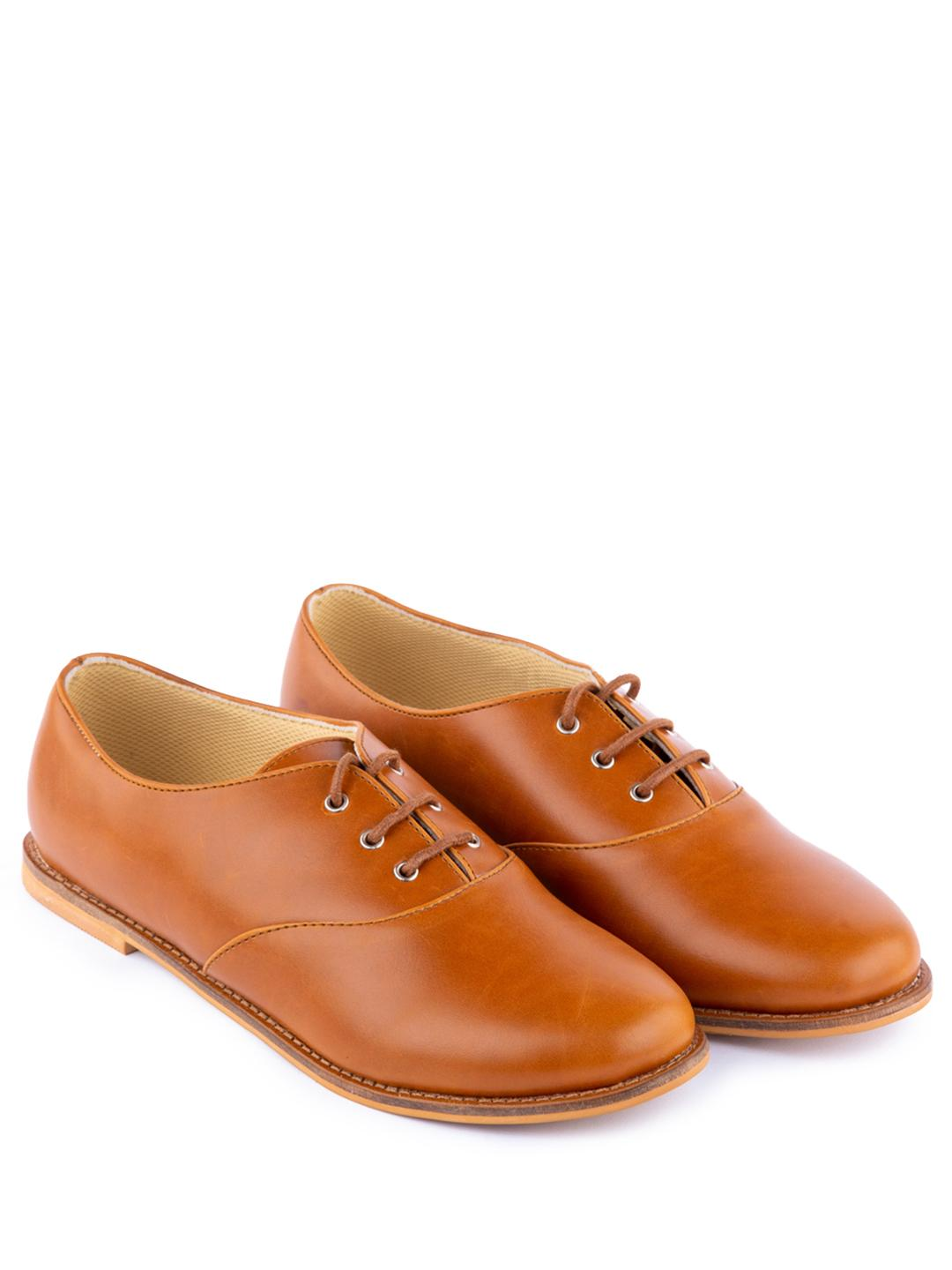 Yellow Soles Brown Lace-Up Oxford Shoes 1