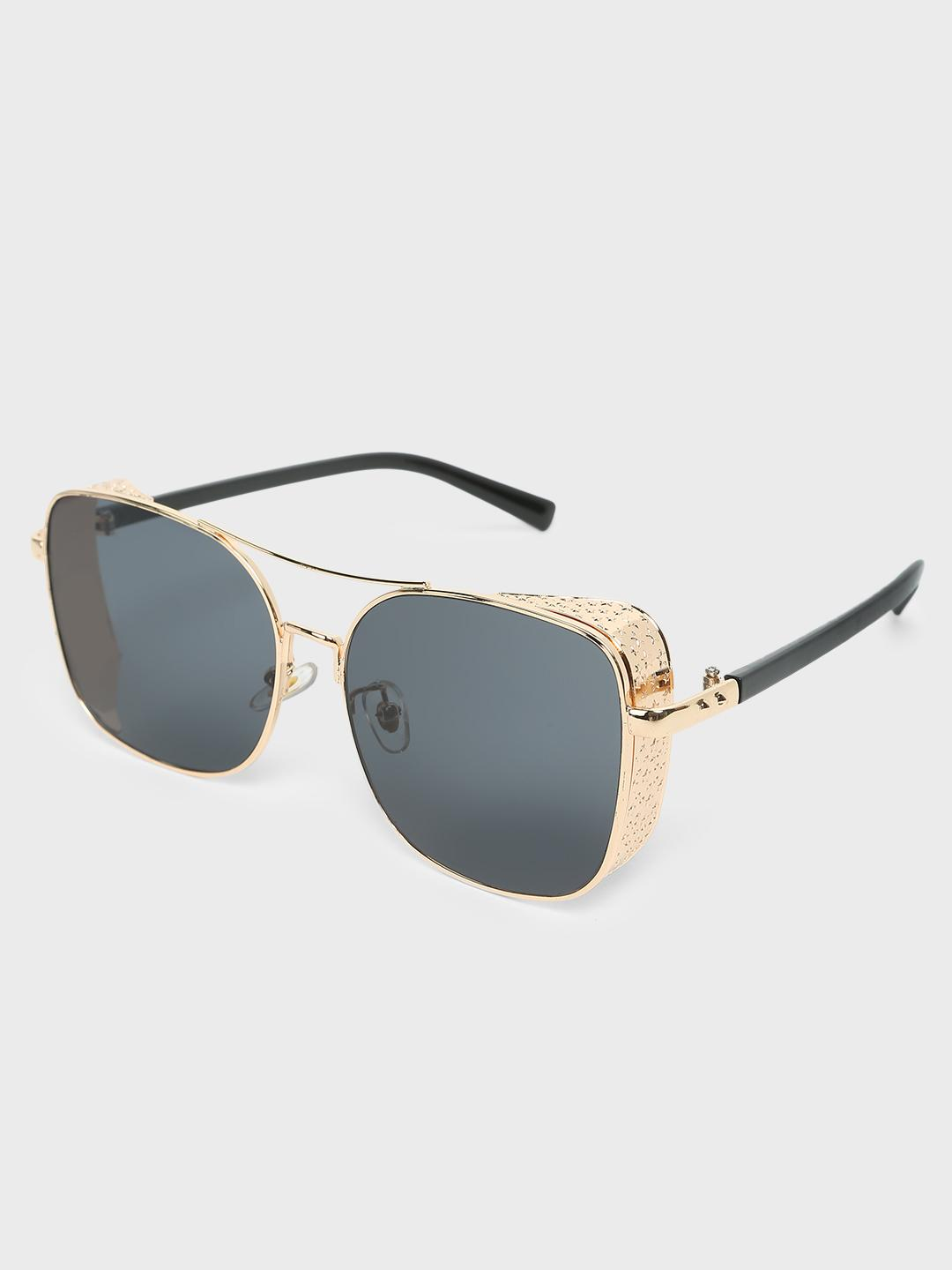 Fuzoku GOLDEN/BLACK Bratva Square Sunglasses 1
