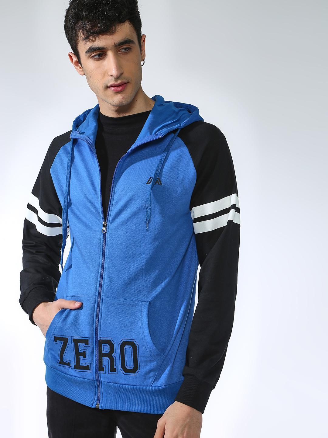 MASH UNLIMITED ROYAL/BLACK Zero Color Block Hoodie 1