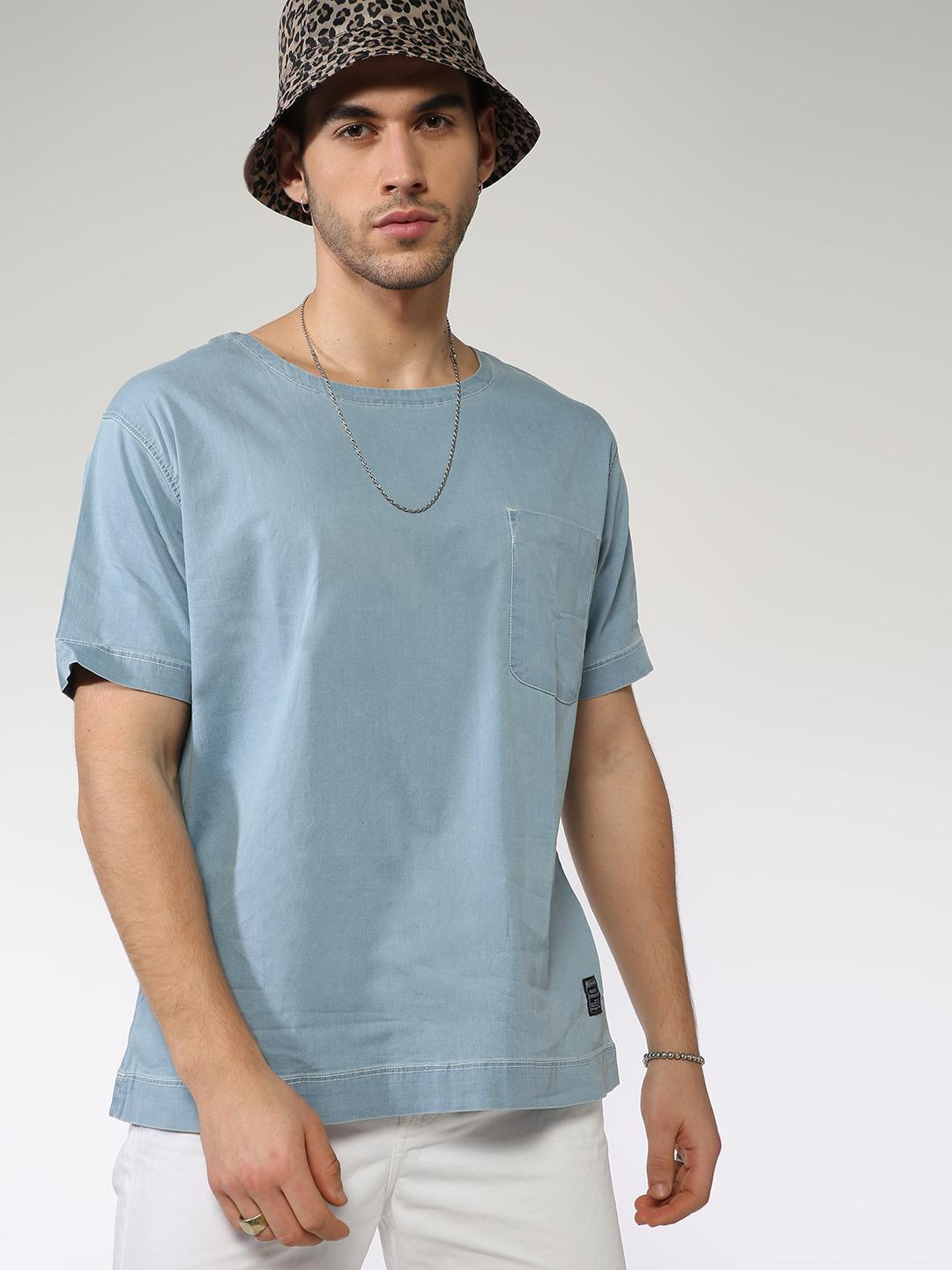 Blue Saint Blue Patch Pocket Plain T-Shirt 1