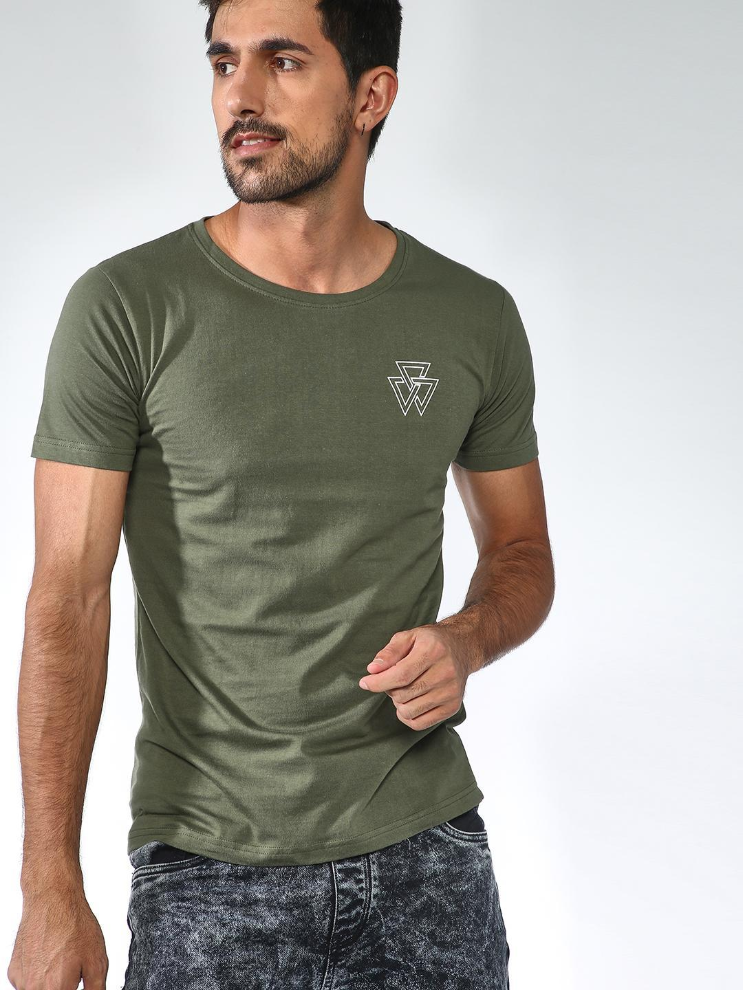 Blue Saint Olive Round Neck Slim Fit T-shirt 1