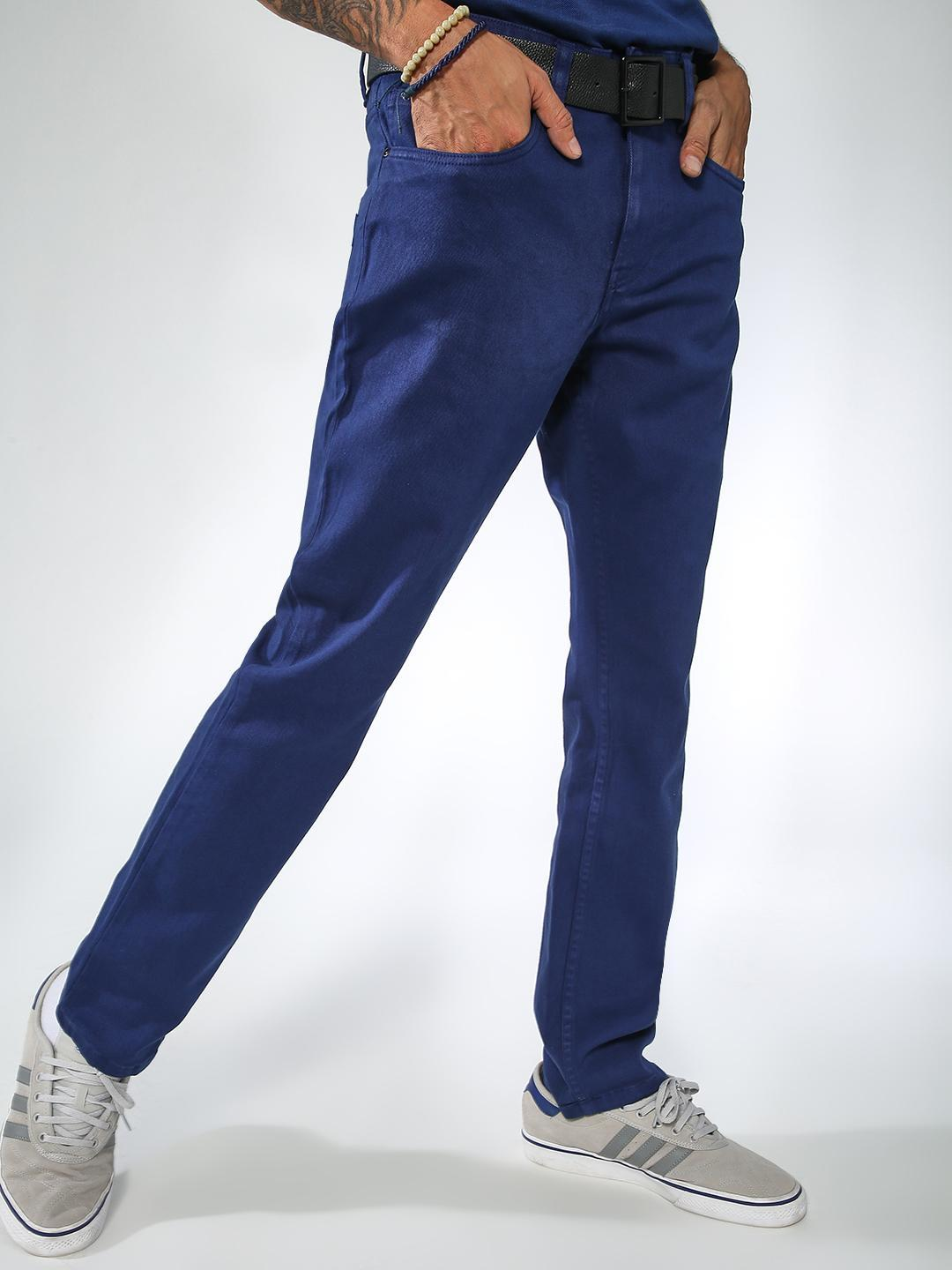Blue Saint Navy Basic Slim-Fit Jeans 1