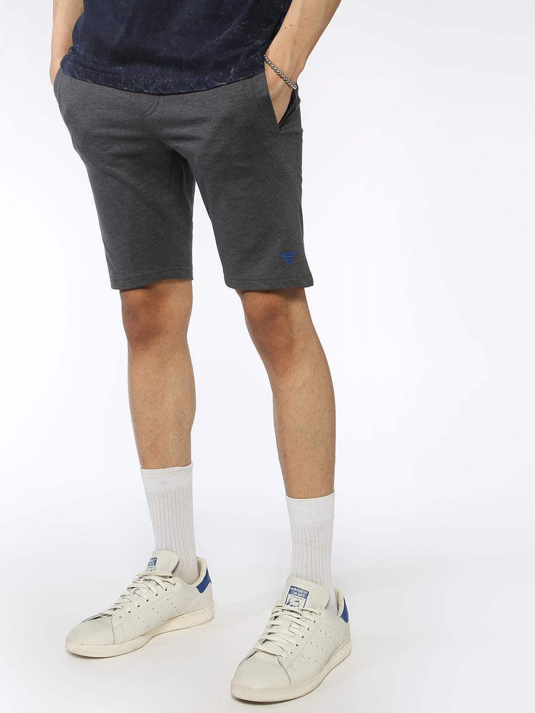 Blue Saint Grey Basic Slim Fit Shorts 1