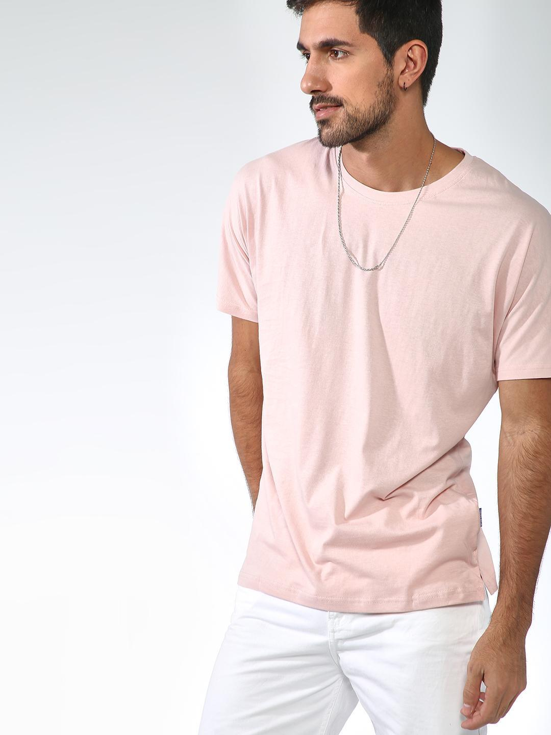 Blue Saint Pink BULE SAINT Basic Round Neck T-Shirt 1