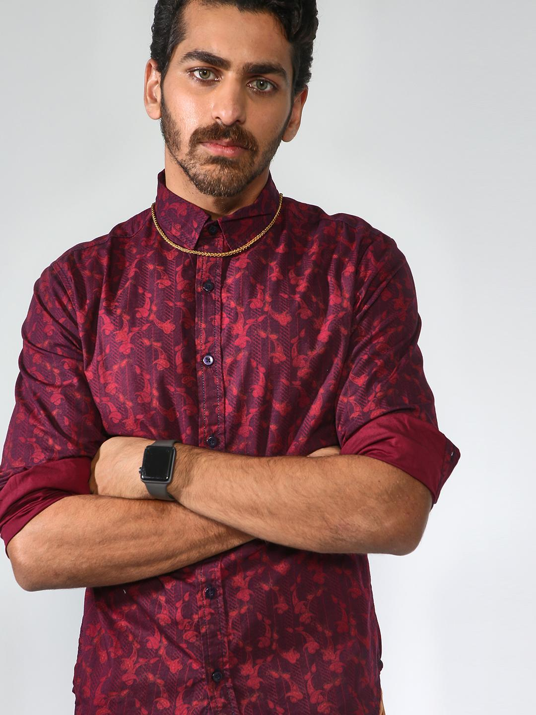 Blue Saint Red All Over Floral Print Shirt 1