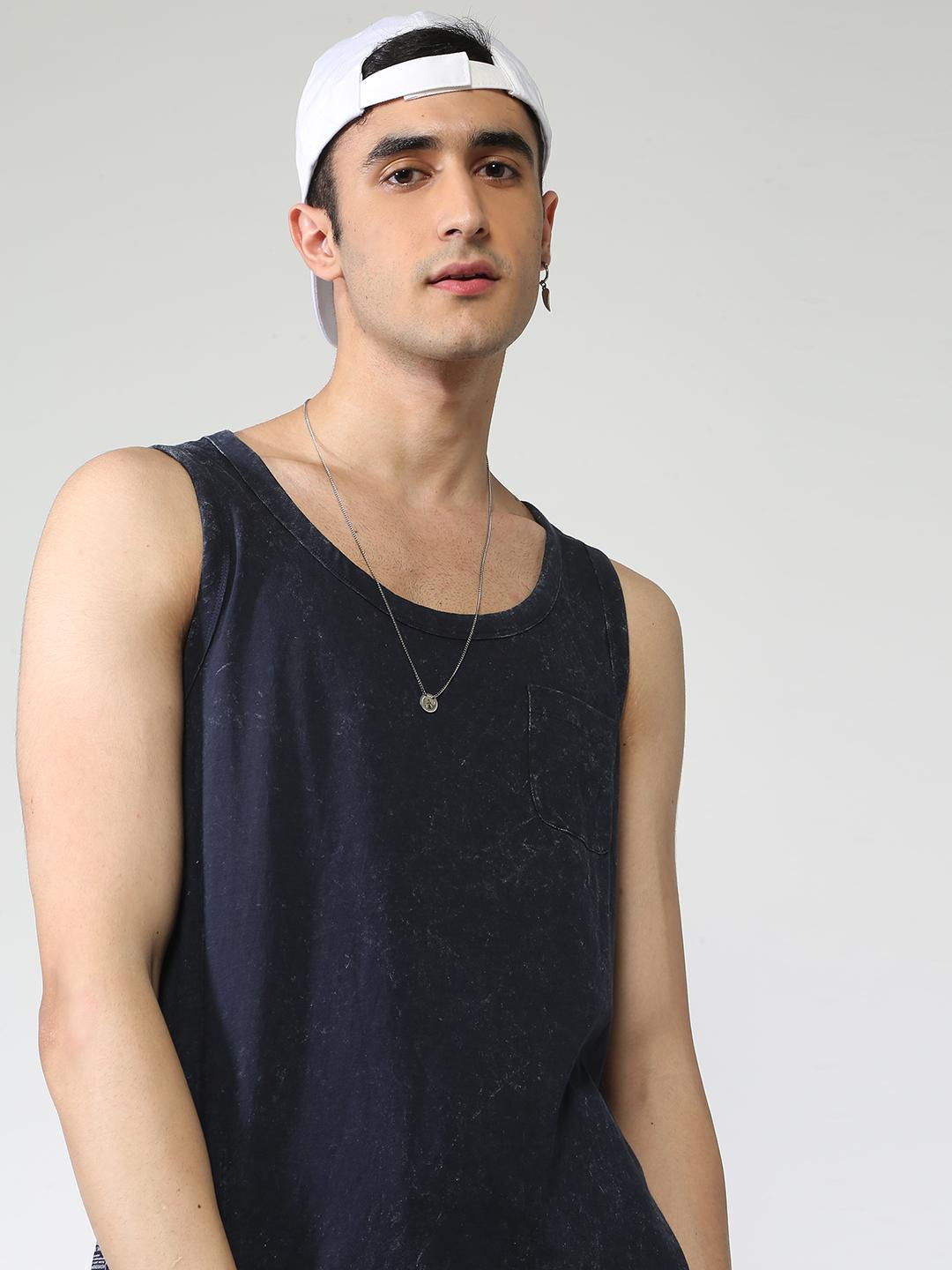 Blue Saint Navy Basic Patch Pocket Vest 1