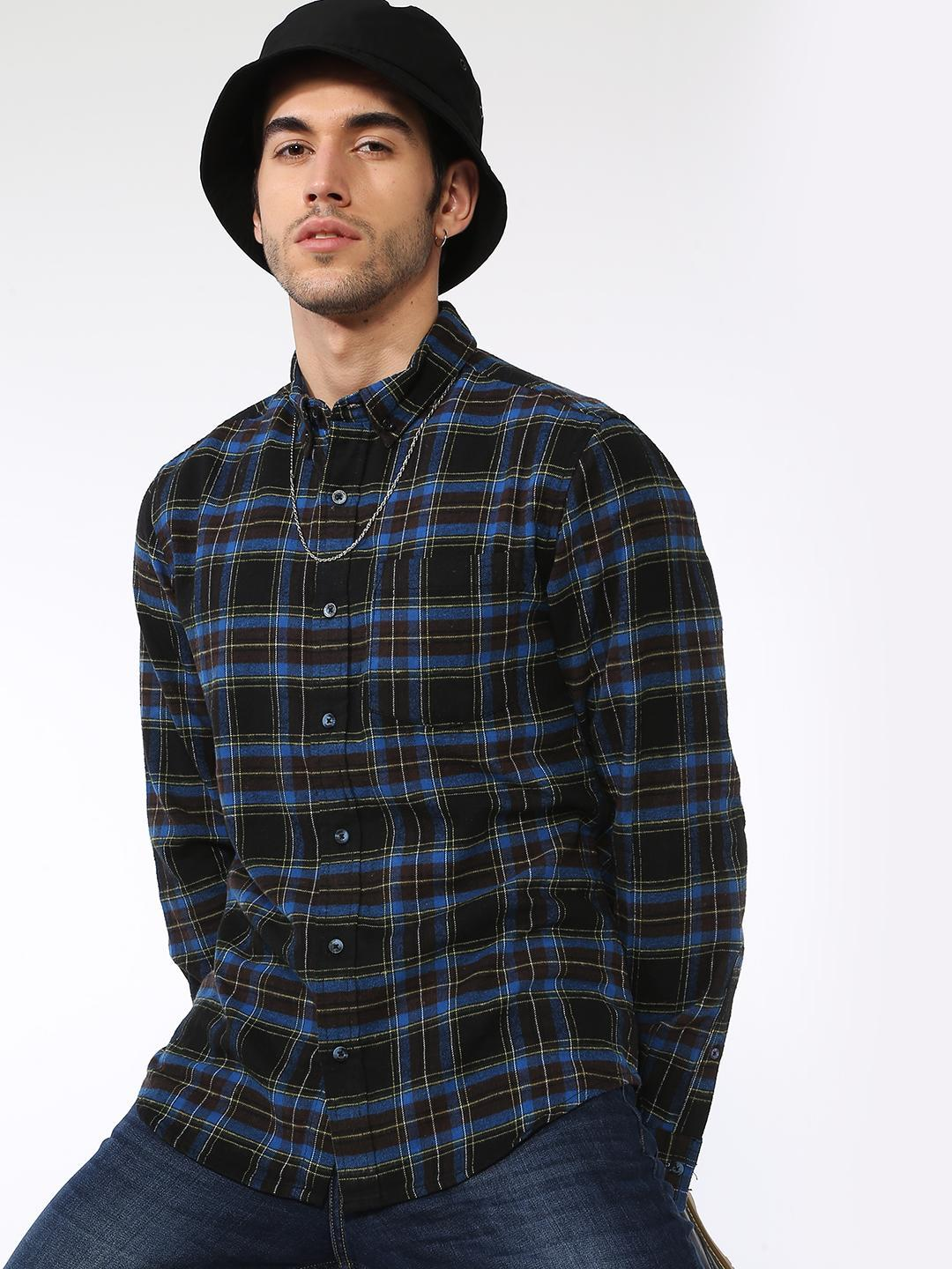 Blue Saint Multi All Over Check Long Sleeves Shirt 1