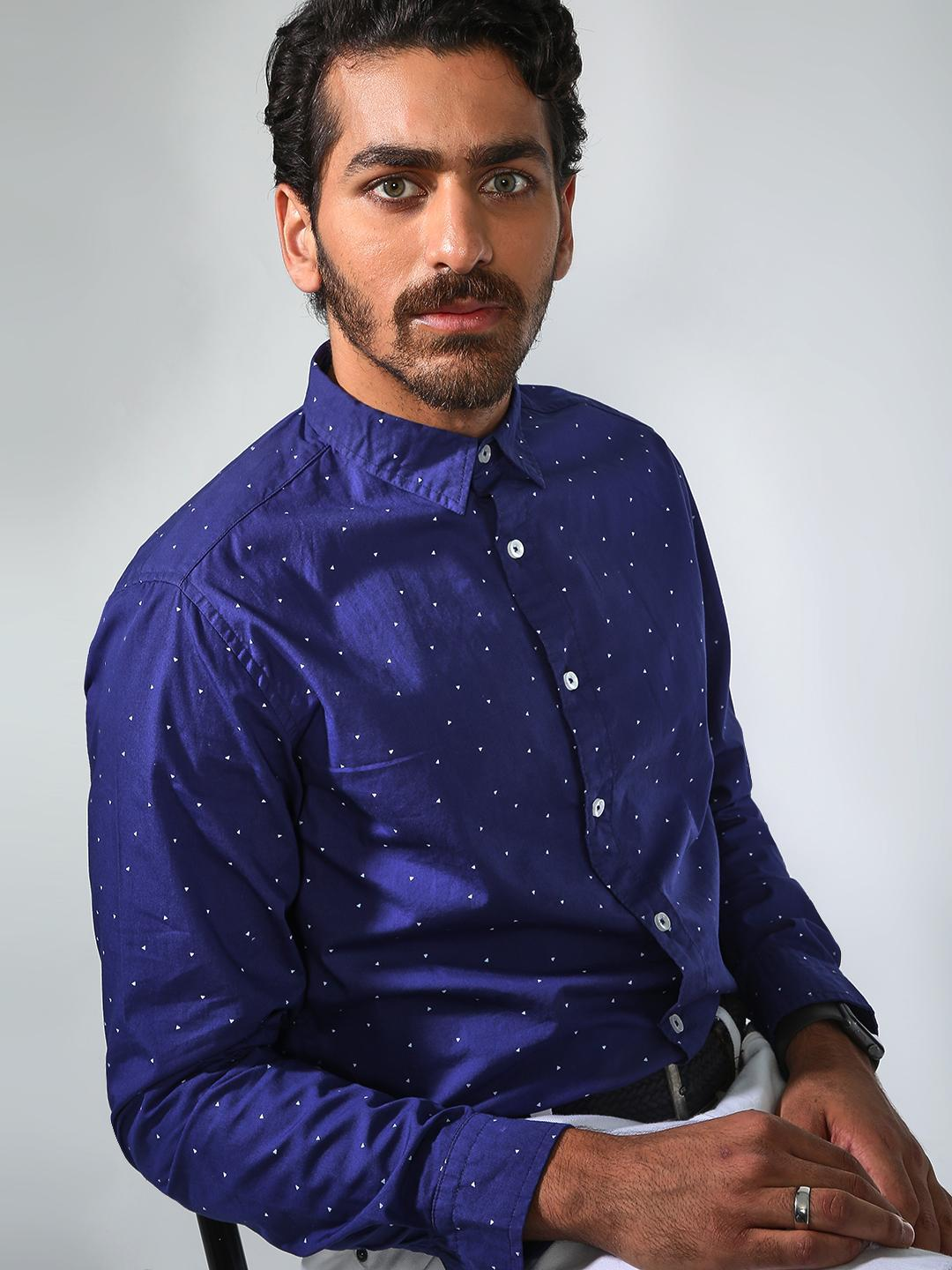 Blue Saint Navy All-over Printed Shirt 1