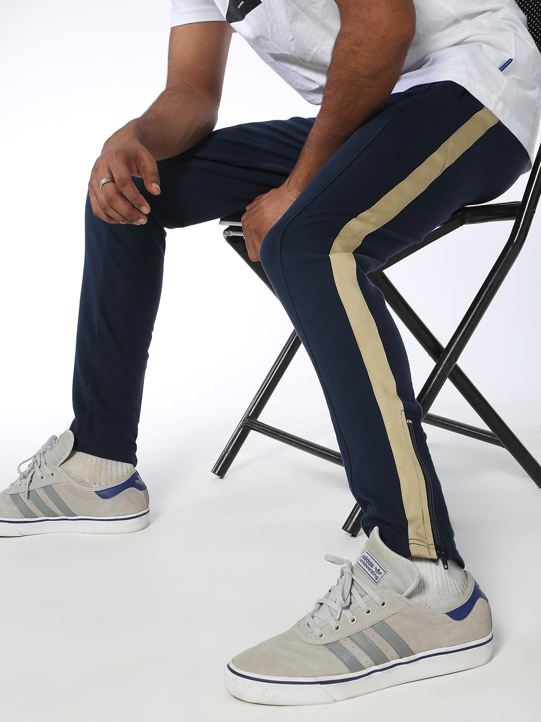 Blue Saint Navy Side Tape Slim Fit Joggers 1