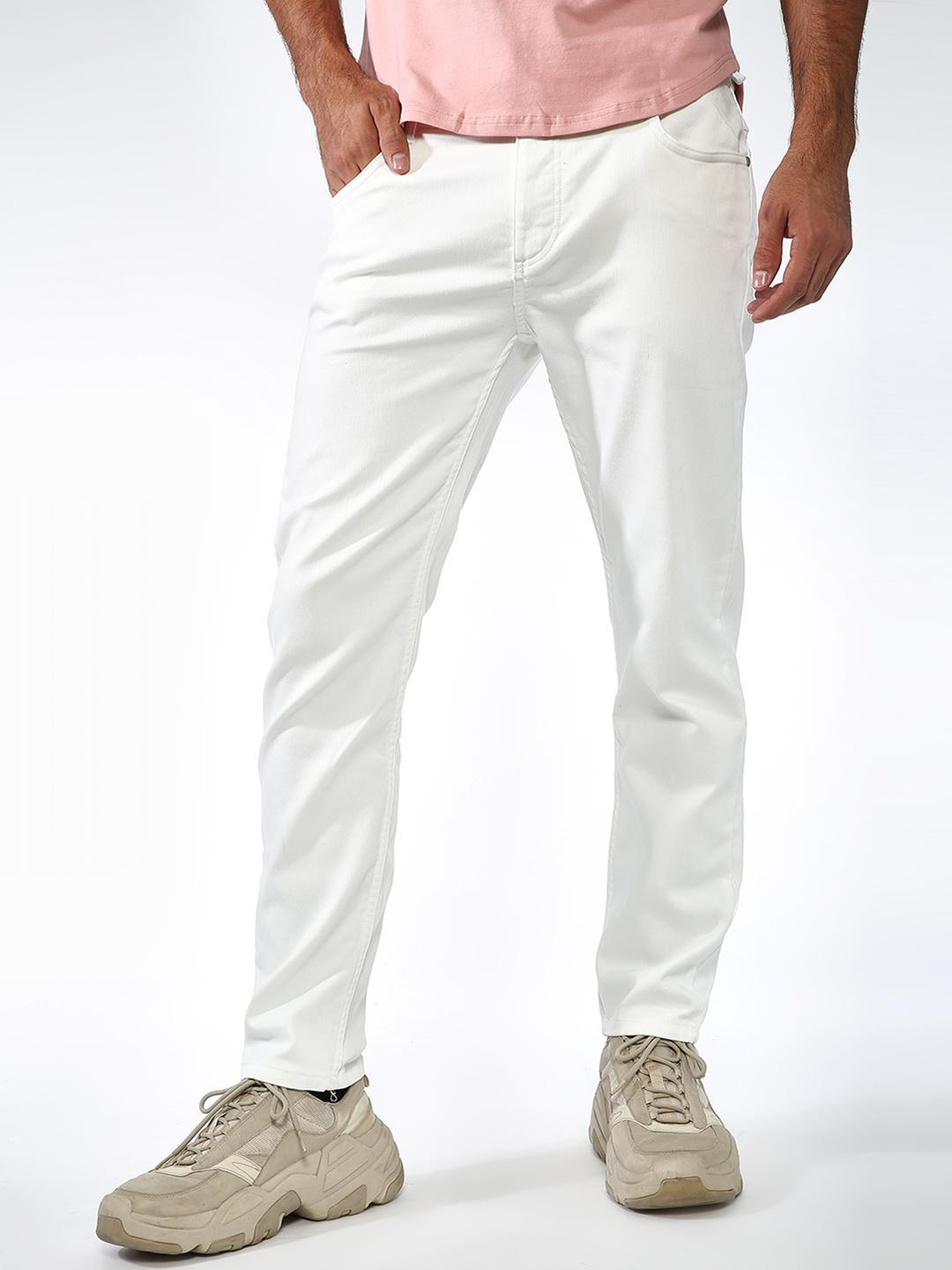 Sheltr White Causal Jean Style Jogger 1
