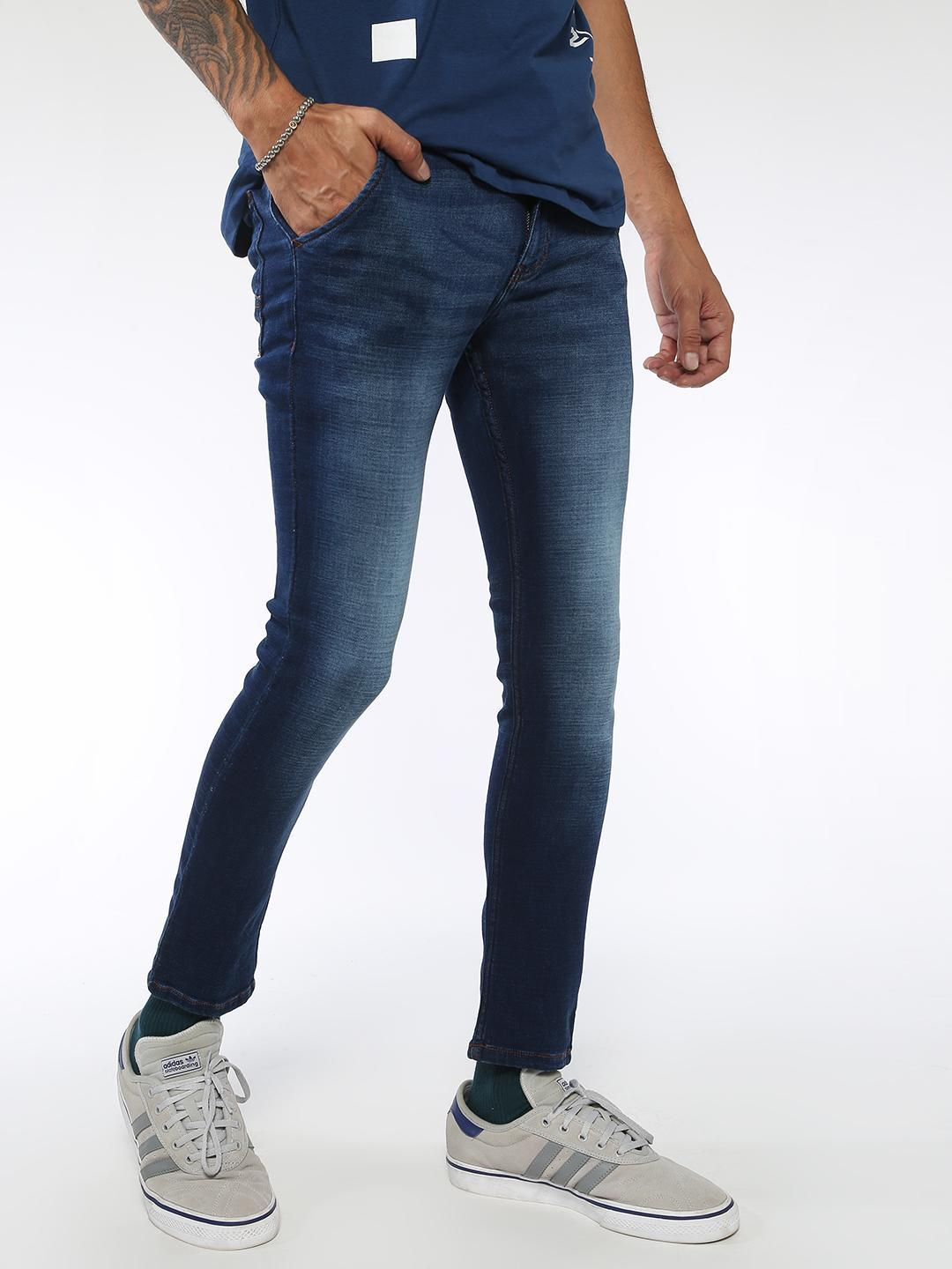 Sheltr Blue Men's Skinny Fit Jeans 1