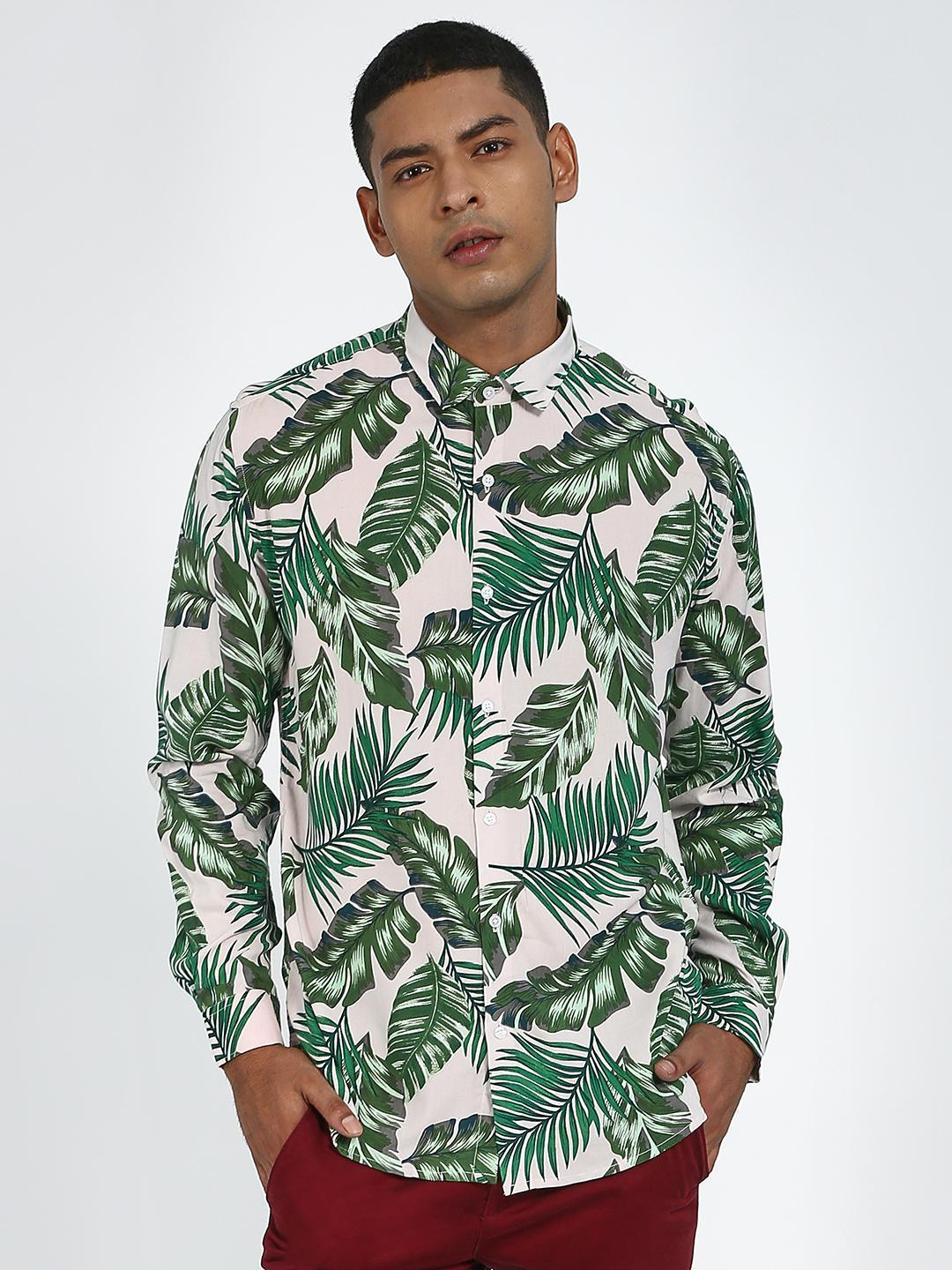 Green Hill Green All Over Printed Casual Shirt 1