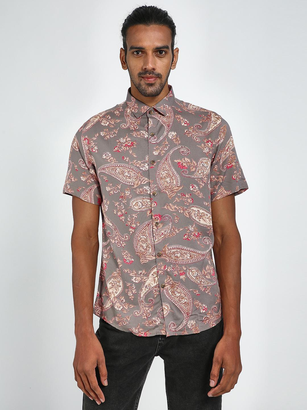 Green Hill Pink All Over Printed Casual Shirt 1
