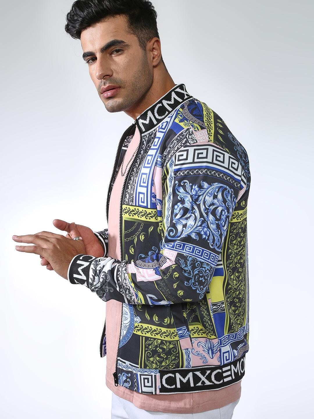 SID & SOM Multi All Over Baroque Print Jacket 1